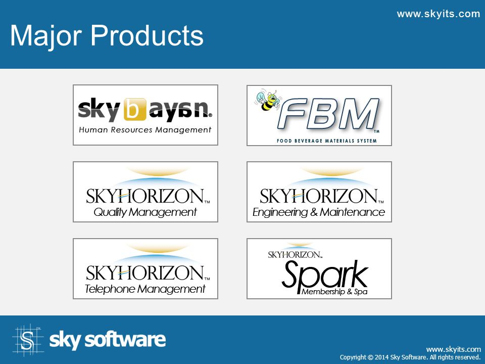 What Makes a Good Software www.skyits.com Our mission is to empower the hospitality market with innovative, high- quality, scalable, and integrated total software solutions at fair prices strengthened with professional technical services and a customer-focused business mentality.