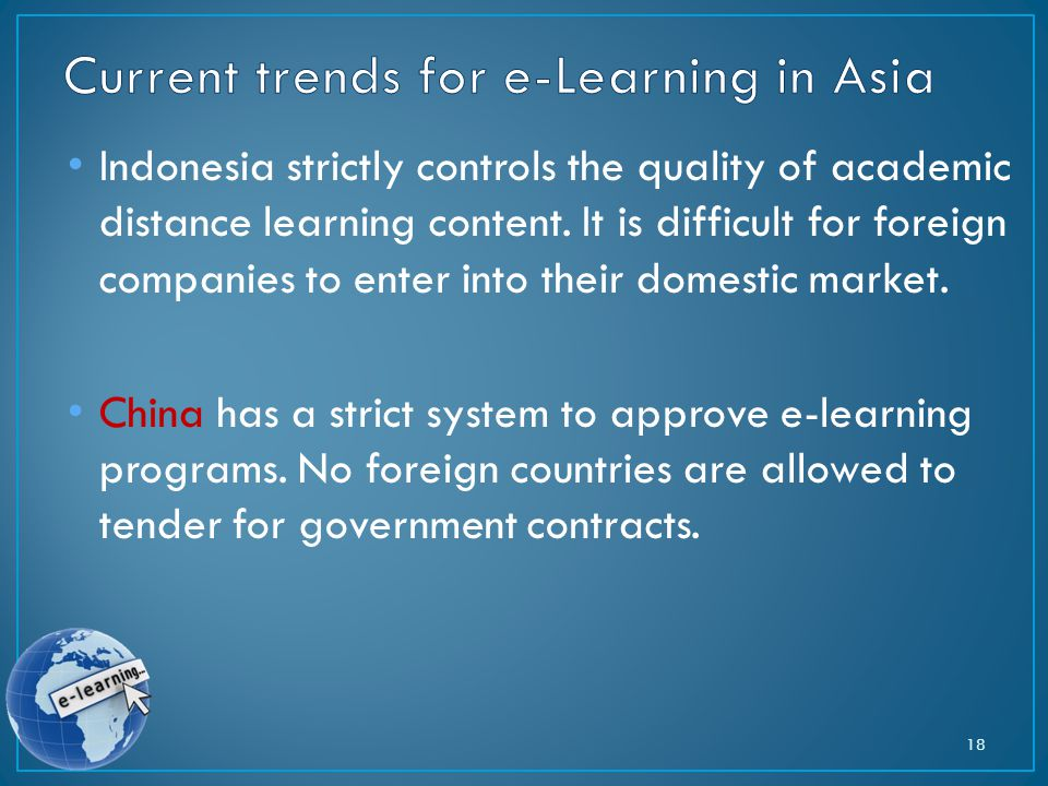 Indonesia strictly controls the quality of academic distance learning content.