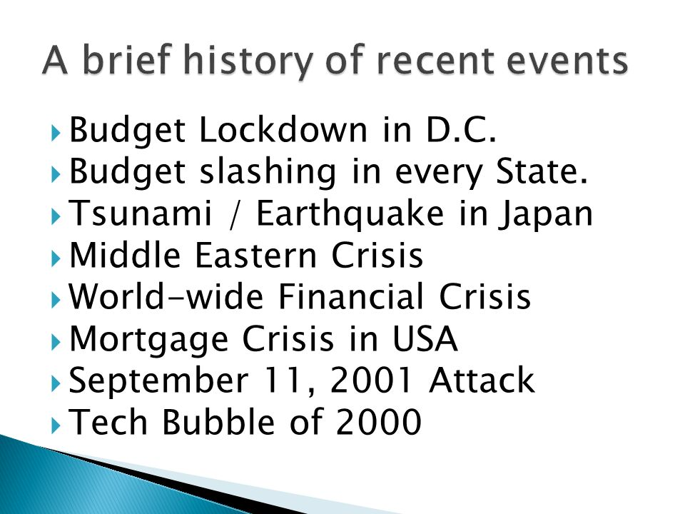  Budget Lockdown in D.C.  Budget slashing in every State.