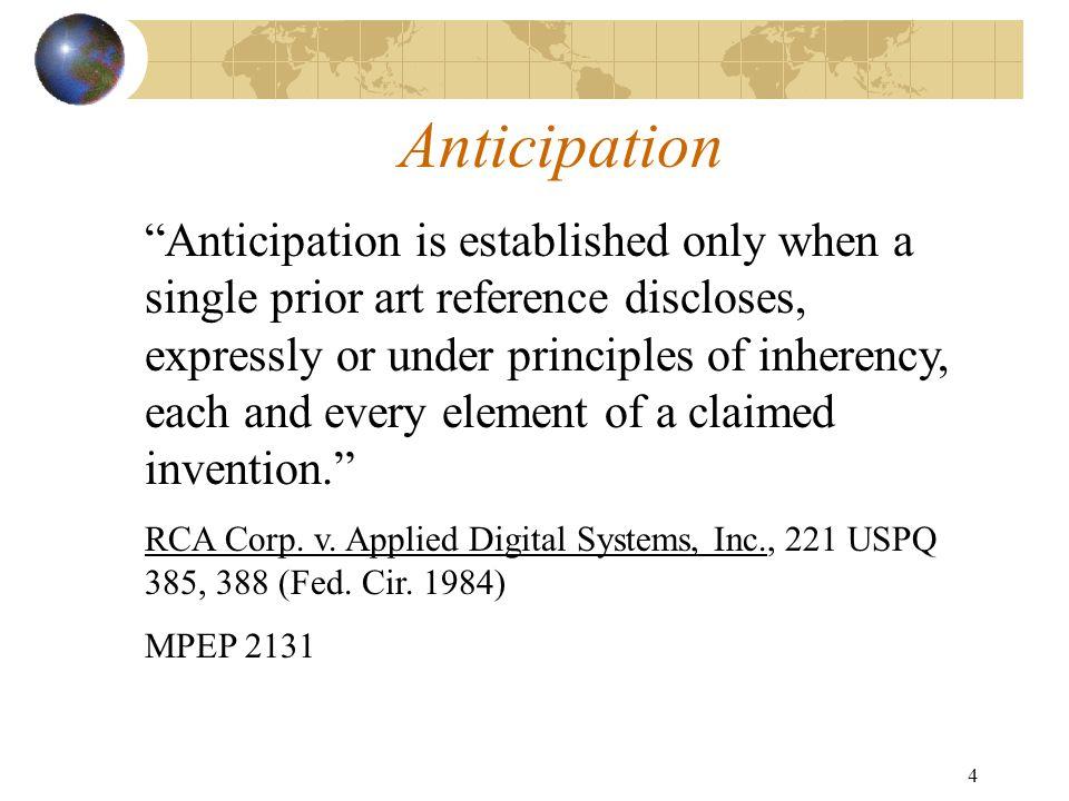 3 Novelty/Anticipation