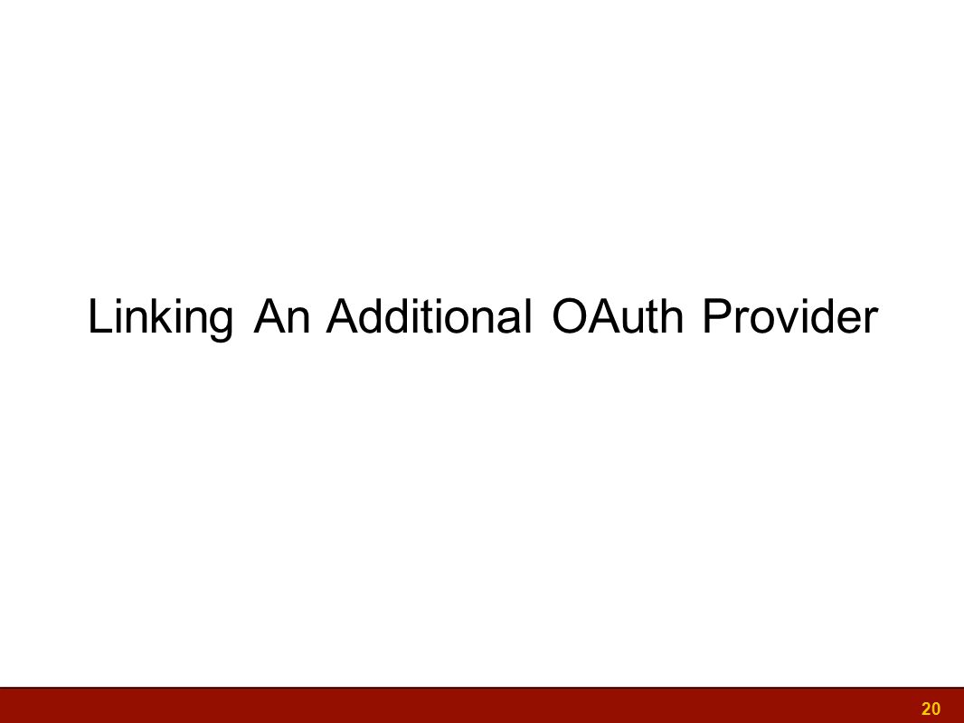 Linking An Additional OAuth Provider 20