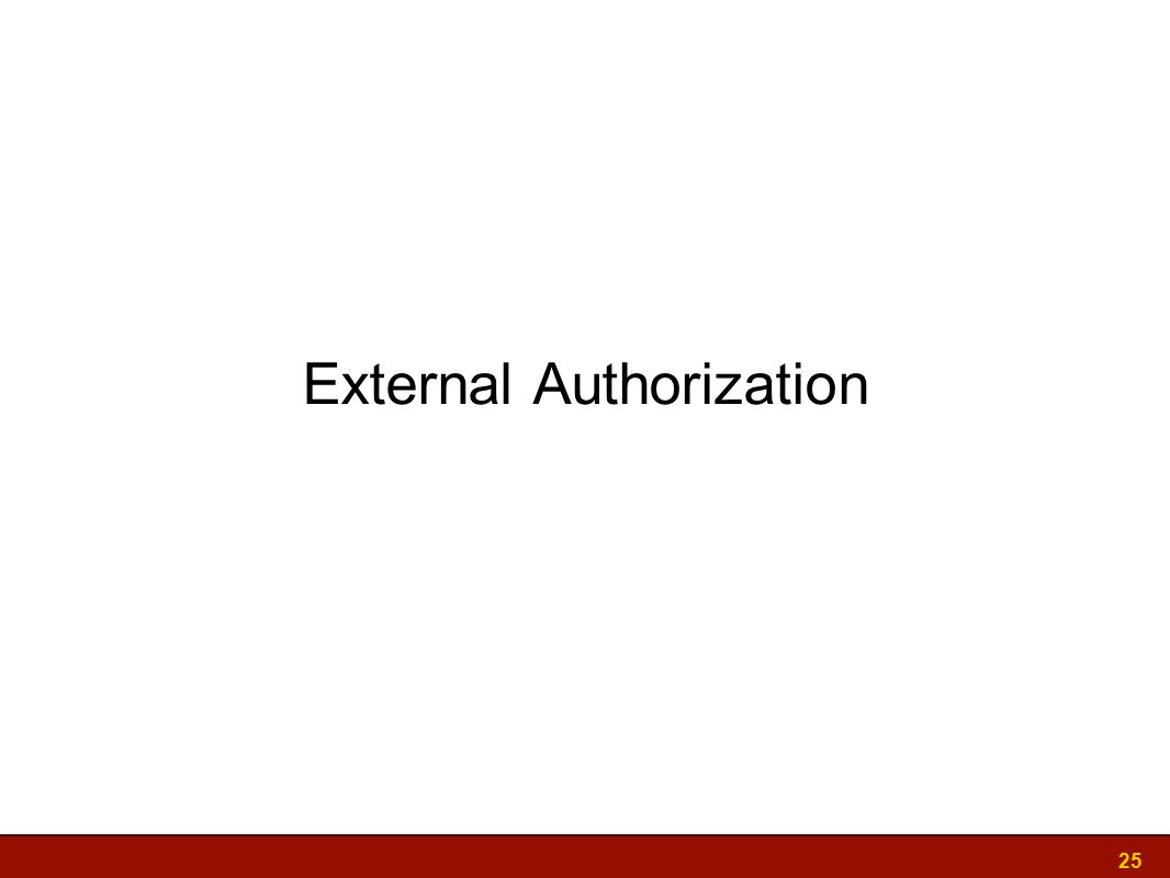 External Authorization 25