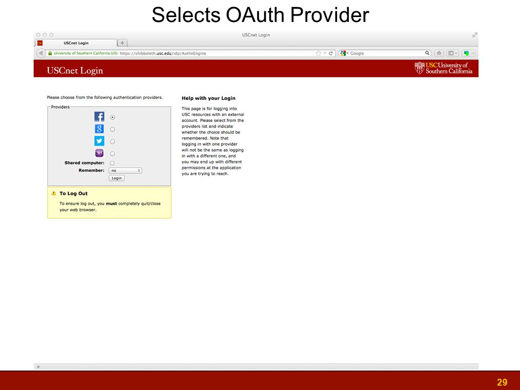 29 Selects OAuth Provider