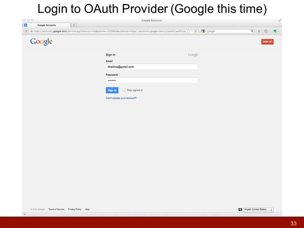 33 Login to OAuth Provider (Google this time)