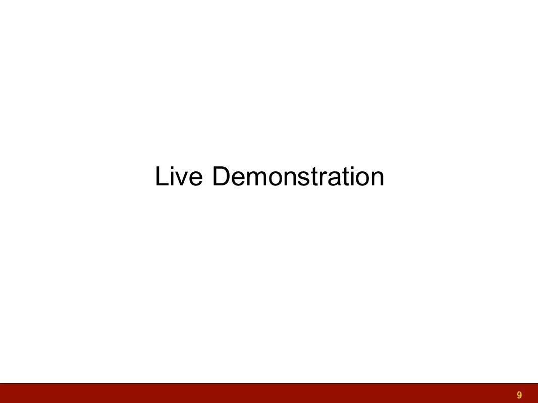 Live Demonstration 9