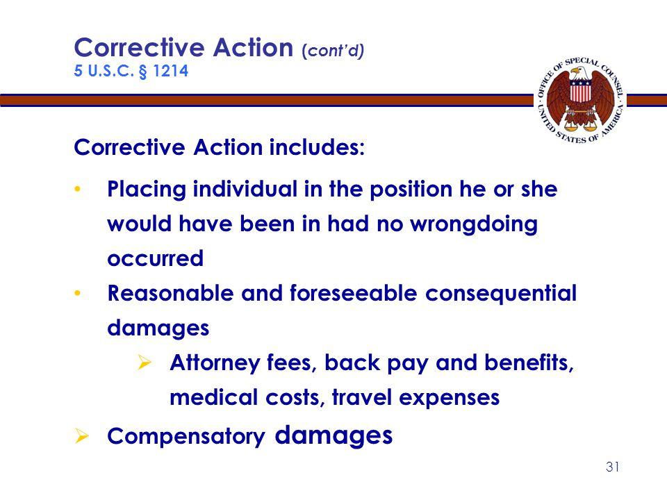 30 Corrective Action 5 U.S.C.