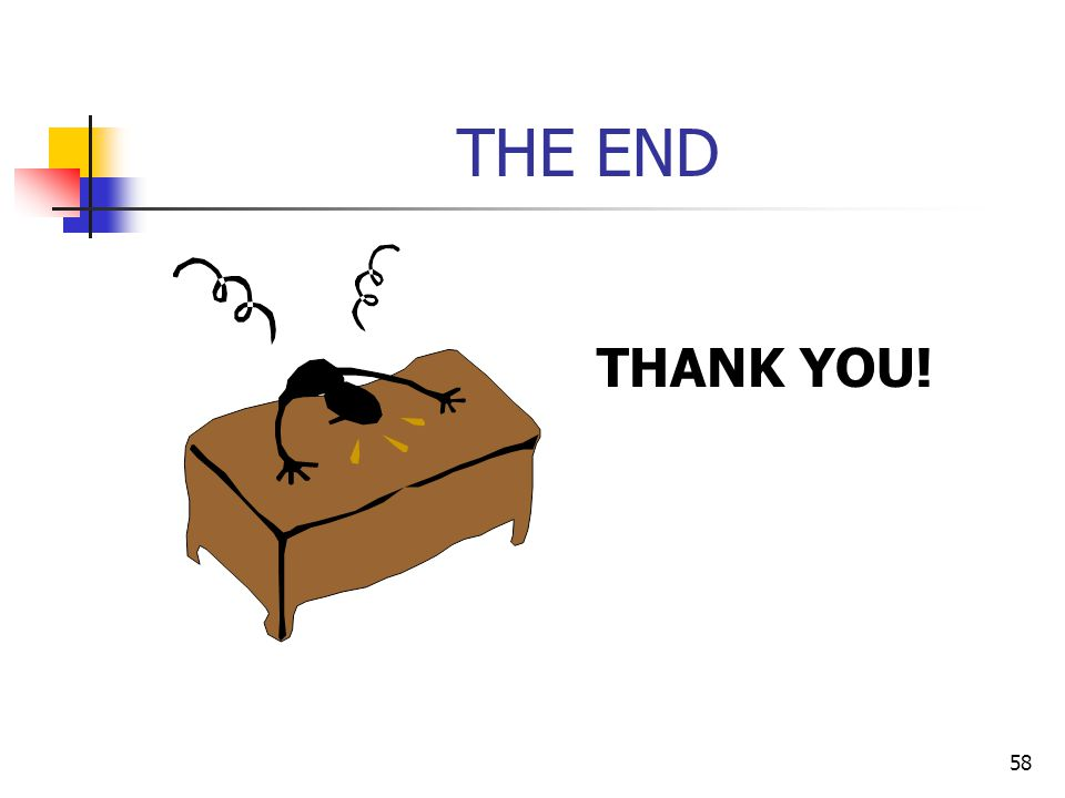 58 THE END THANK YOU!
