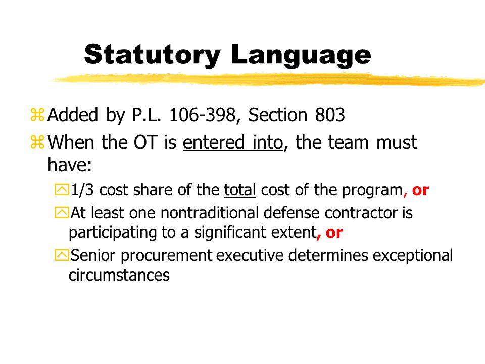 Statutory Language zAdded by P.L.