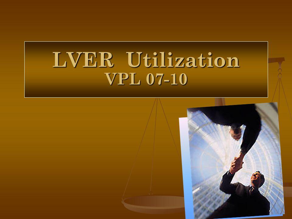 LVER Utilization VPL 07-10
