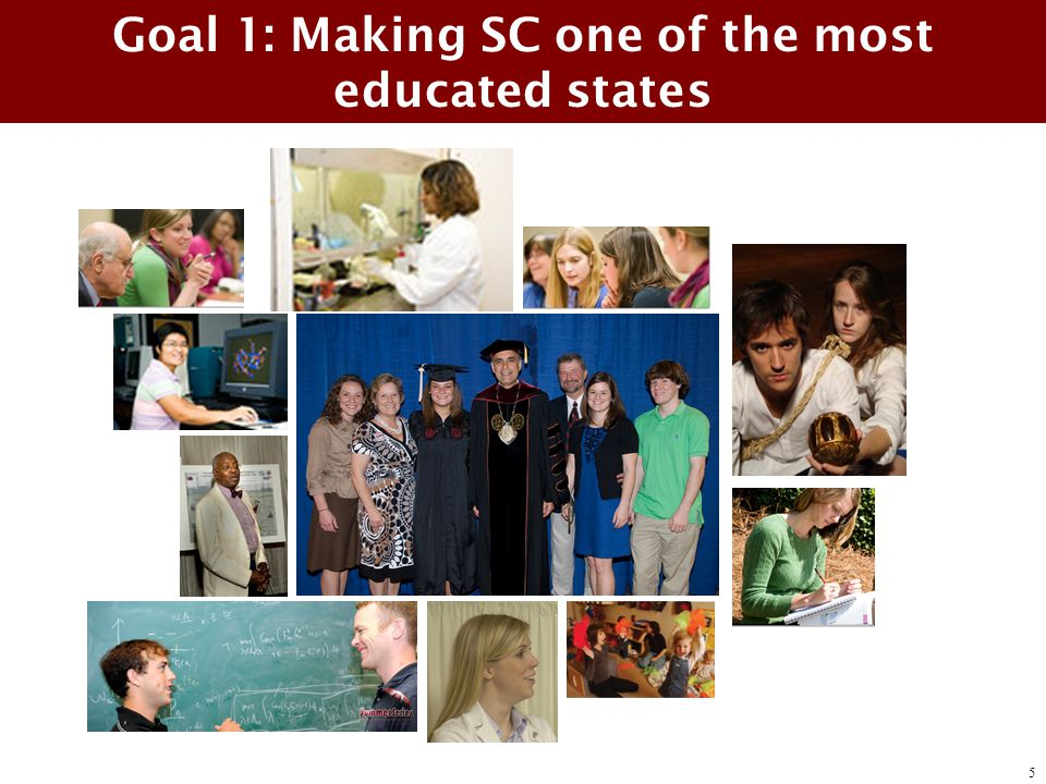 Goal 1: Making SC one of the most educated states 5