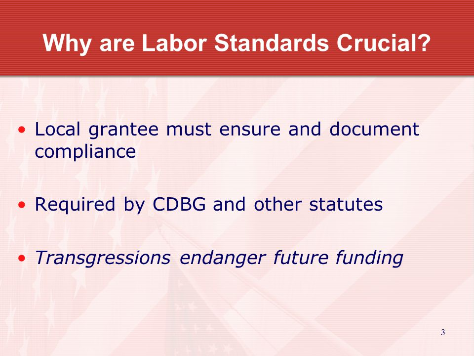Grantee Responsibilities - continued Maintain contract management system and compliance files See HUD Handbook 1344 14
