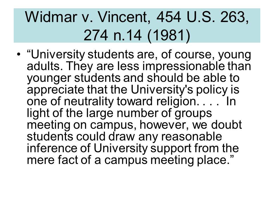 Widmar v. Vincent, 454 U.S.