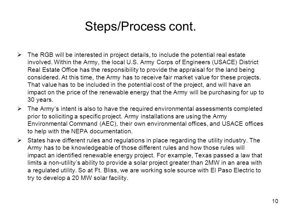 Steps/Process cont.