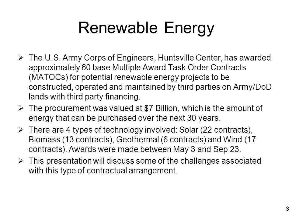 Renewable Energy  The U.S.