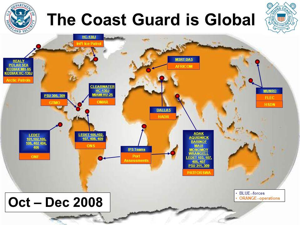HC-130J Int'l Ice Patrol ADAK AQUIDNICK BARINOF MAUI MONOMOY WRANGELL LEDET 103, 107, 405, 407 PSU 311, 309 PATFORSWA LEDET 101,102,105, 108, 402 404,