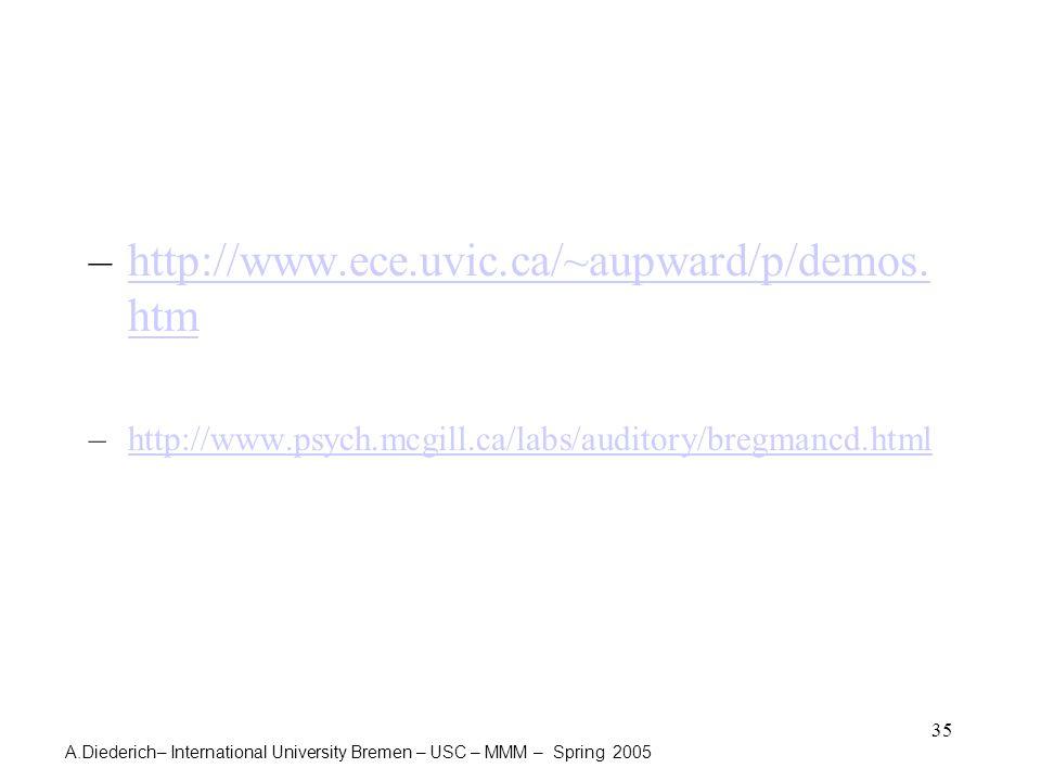 A.Diederich– International University Bremen – USC – MMM – Spring 2005 35 –http://www.ece.uvic.ca/~aupward/p/demos.