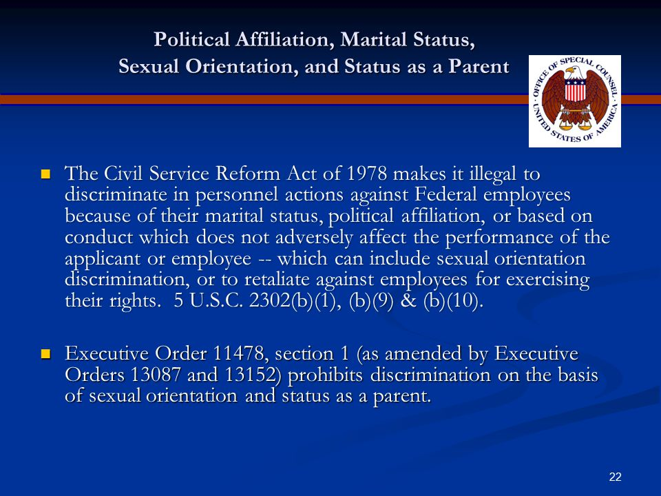 21 Retaliation Prohibited It is unlawful to retaliate against an individual for opposing employment practices that discriminate based on race, color,