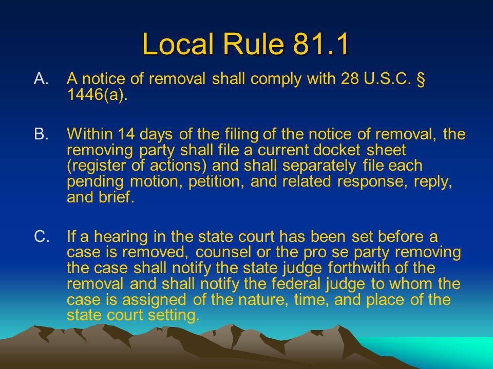 ECF Procedure 5.4.E Pursuant to 28 U.S.C.