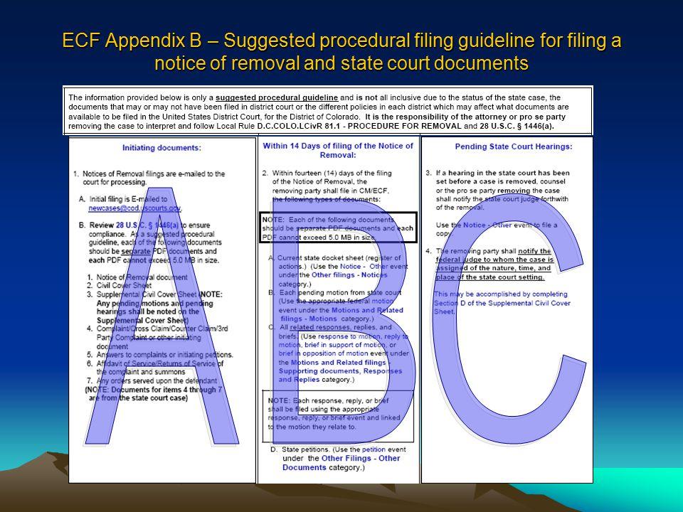 View Supplemental Civil Cover Sheet