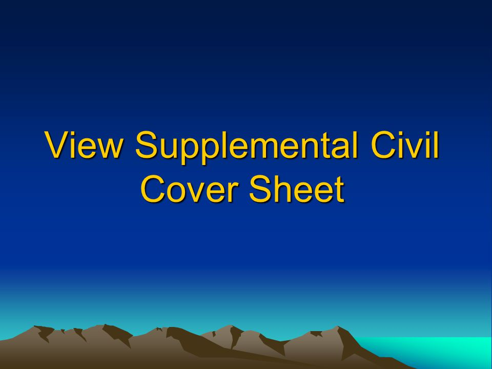 View Supplemental Civil Cover Sheet