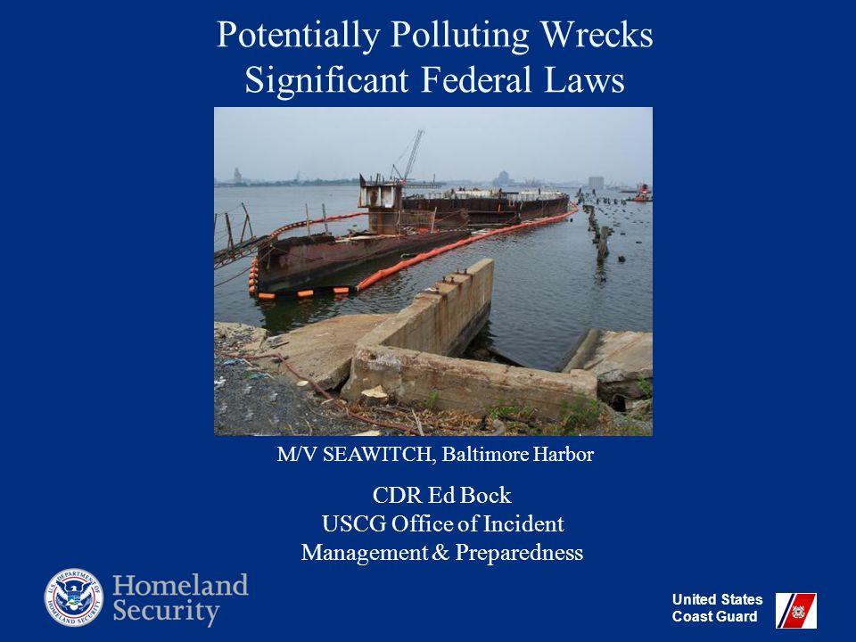 United States Coast Guard OSFTF Funding