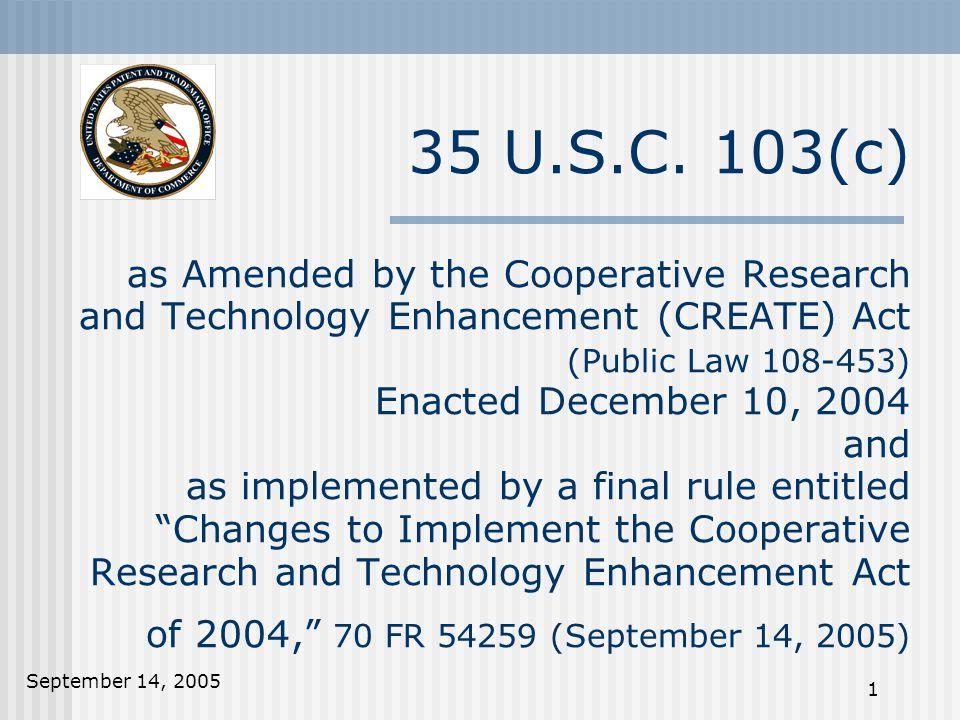 September 14, 2005 1 35 U.S.C.