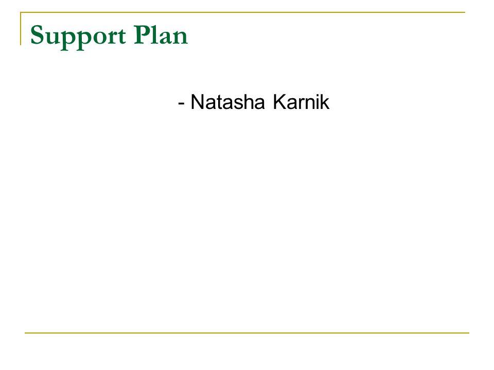 Support Plan - Natasha Karnik