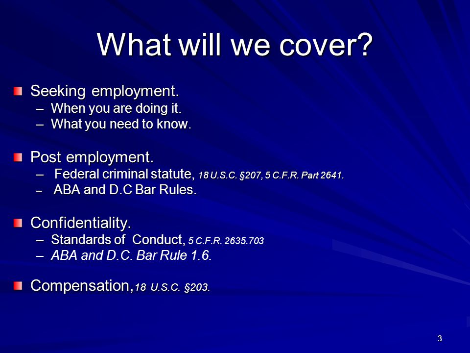 What will we cover. Seeking employment. –When you are doing it.