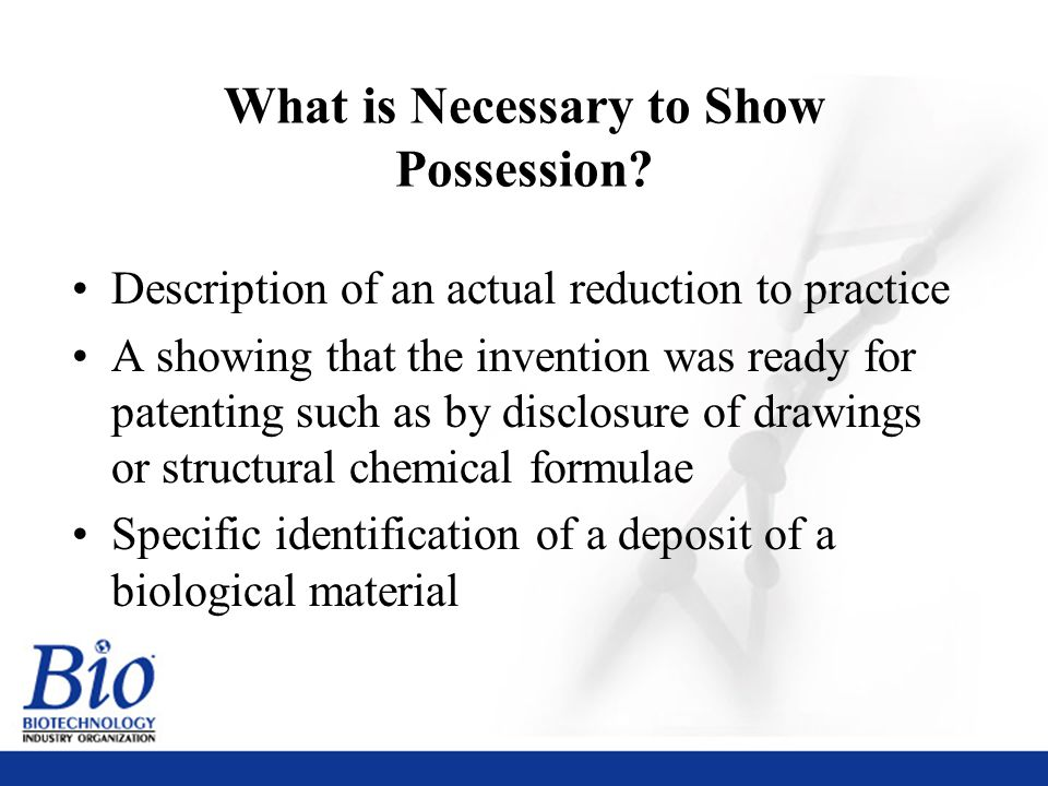 30 What is Necessary to Show Possession.