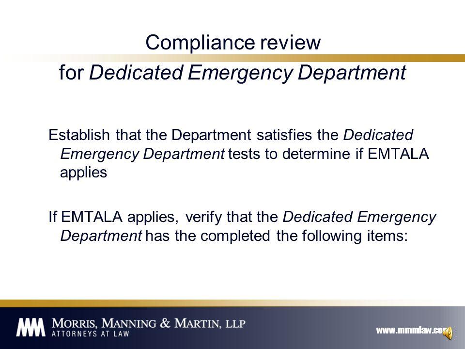 www.mmmlaw.com EMTALA – Module 2 42 U.S.C.