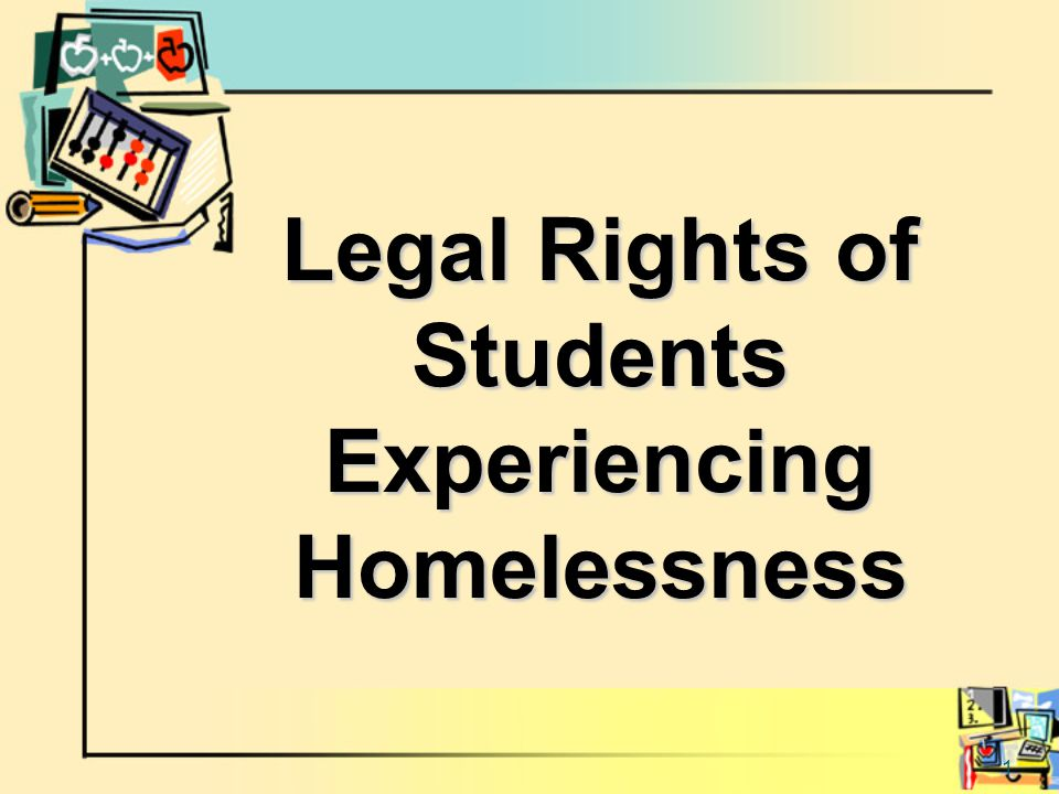 2 Definition of Homeless Children and Youth Those who who lack a fixed, regular and adequate nighttime residence, including: sharing the housing of other persons due to hardship living in motels, hotels, trailer parks, or camping grounds due to the lack of alternative adequate accommodations living in emergency or transitional shelters abandoned in hospitals or awaiting foster care placement in a primary nighttime residence not designed for or ordinarily used as a regular sleeping accommodation for human beings living in cars, parks, public spaces, abandoned buildings, substandard housing, bus or train stations, or similar settings migratory children who live in any of the circumstances described above.