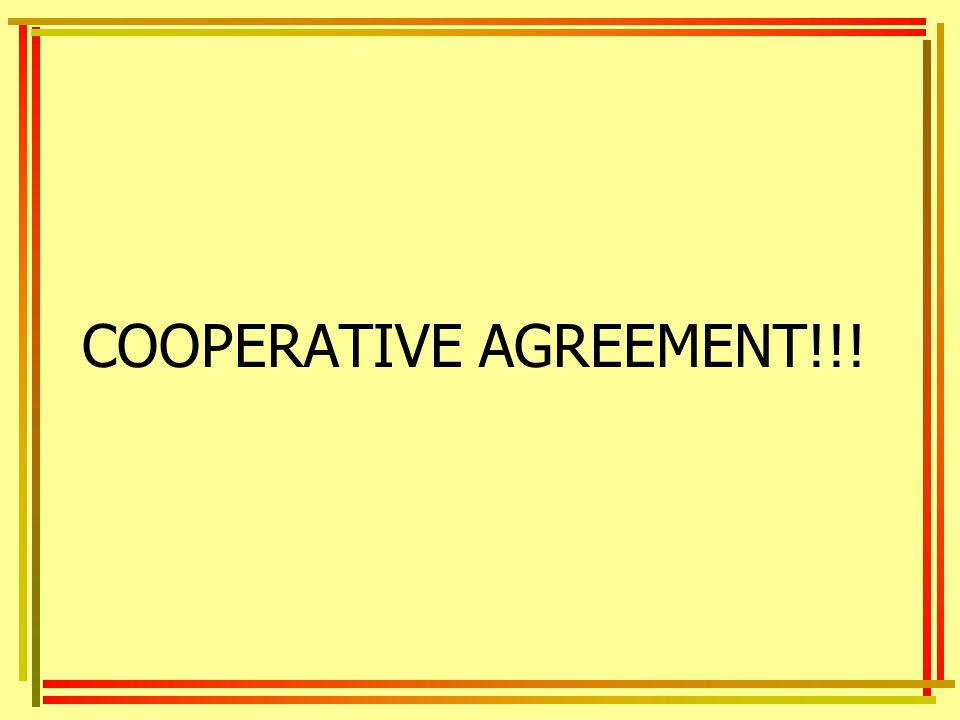COOPERATIVE AGREEMENT!!!