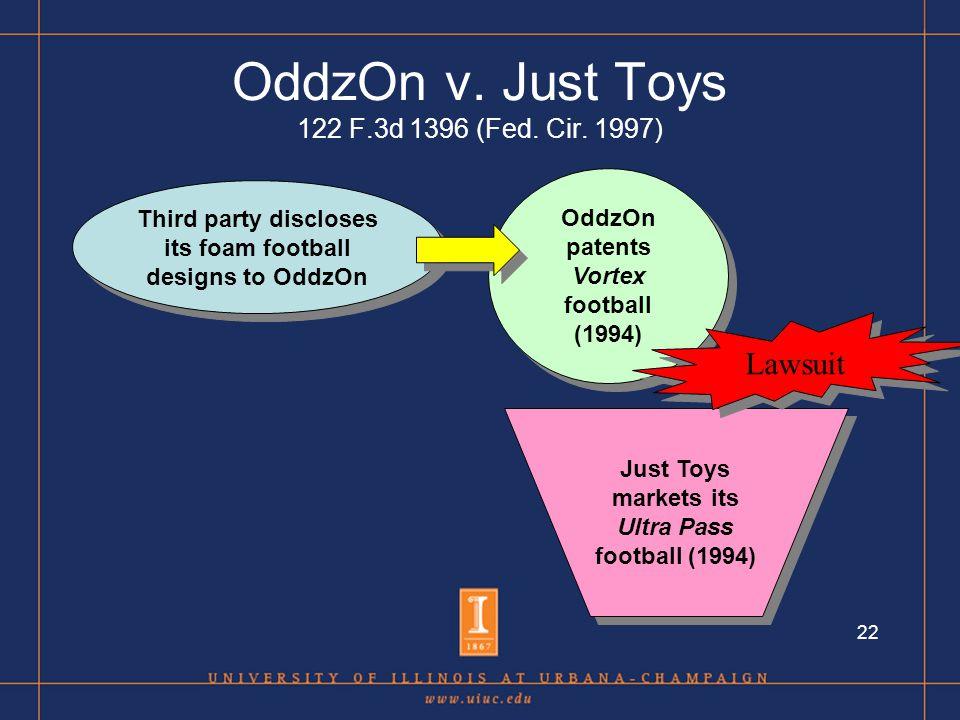 22 OddzOn v. Just Toys 122 F.3d 1396 (Fed. Cir.