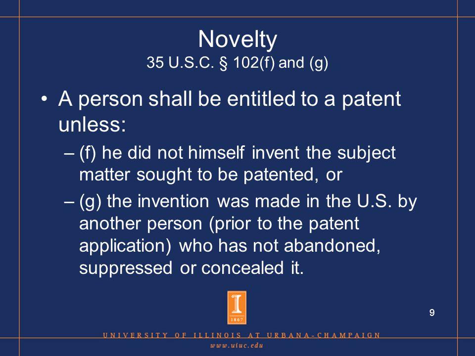9 Novelty 35 U.S.C.