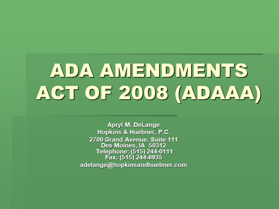 Post ADAAA  Congress expressly rejected the Supreme Court's prevents or severely restricts interpretation of substantially limits.  ADAAA simply states that the term substantially limits shall be interpreted consistently with the findings and purposes of the act, and shall be construed in favor of broad coverage of individuals under this act.