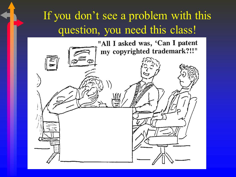 If you don't see a problem with this question, you need this class!