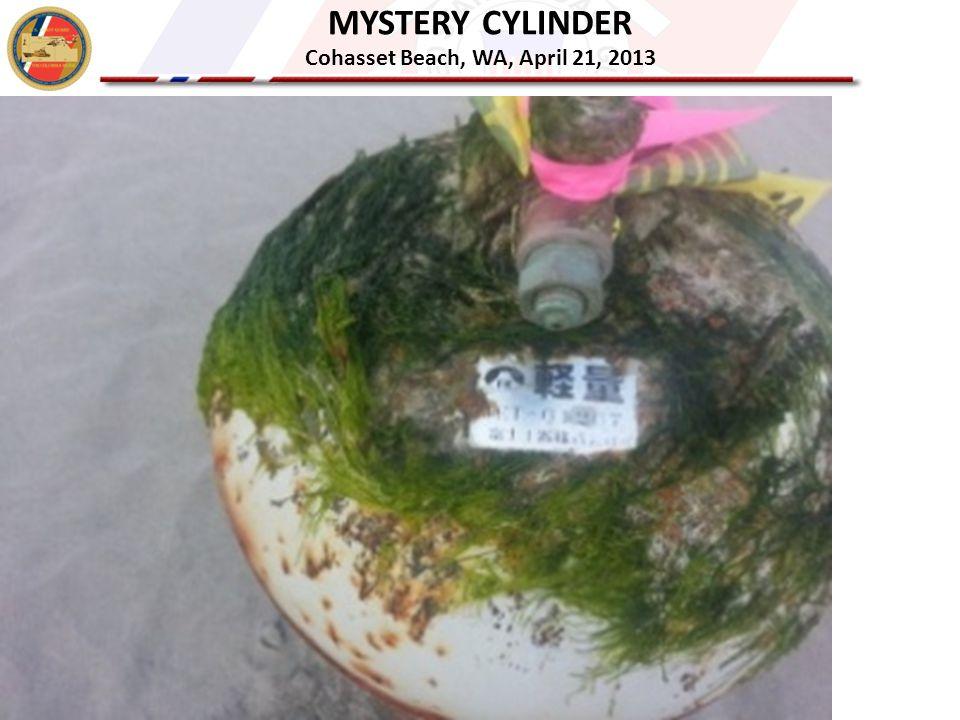 MYSTERY CYLINDER Cohasset Beach, WA, April 21, 2013