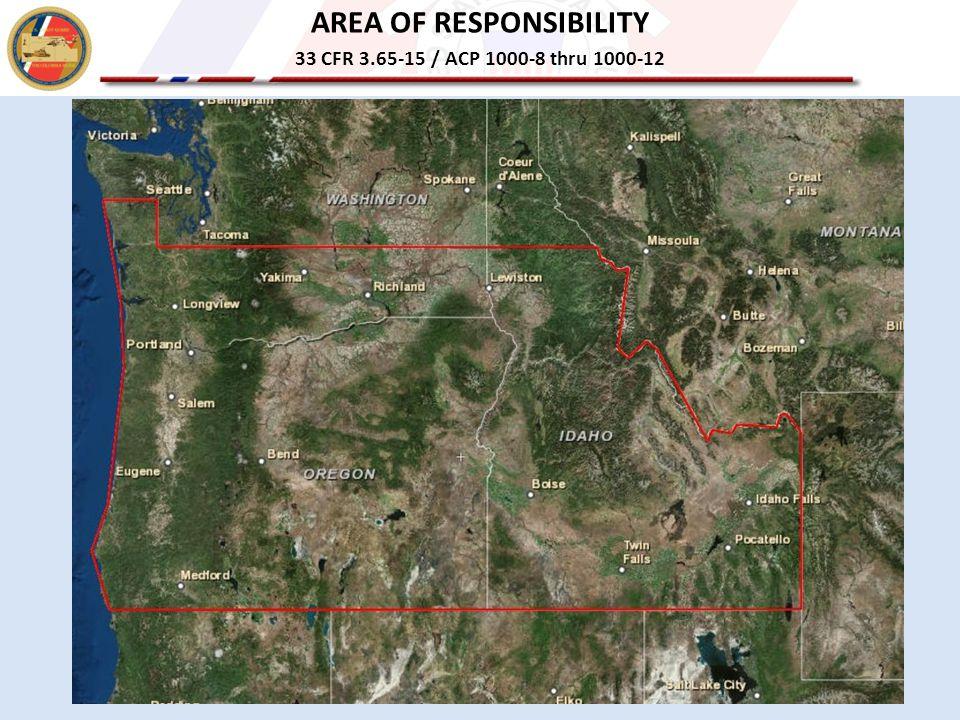 AREA OF RESPONSIBILITY 33 CFR 3.65-15 / ACP 1000-8 thru 1000-12