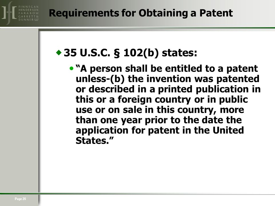 Page 26  35 U.S.C.