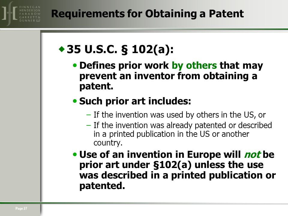 Page 27  35 U.S.C.