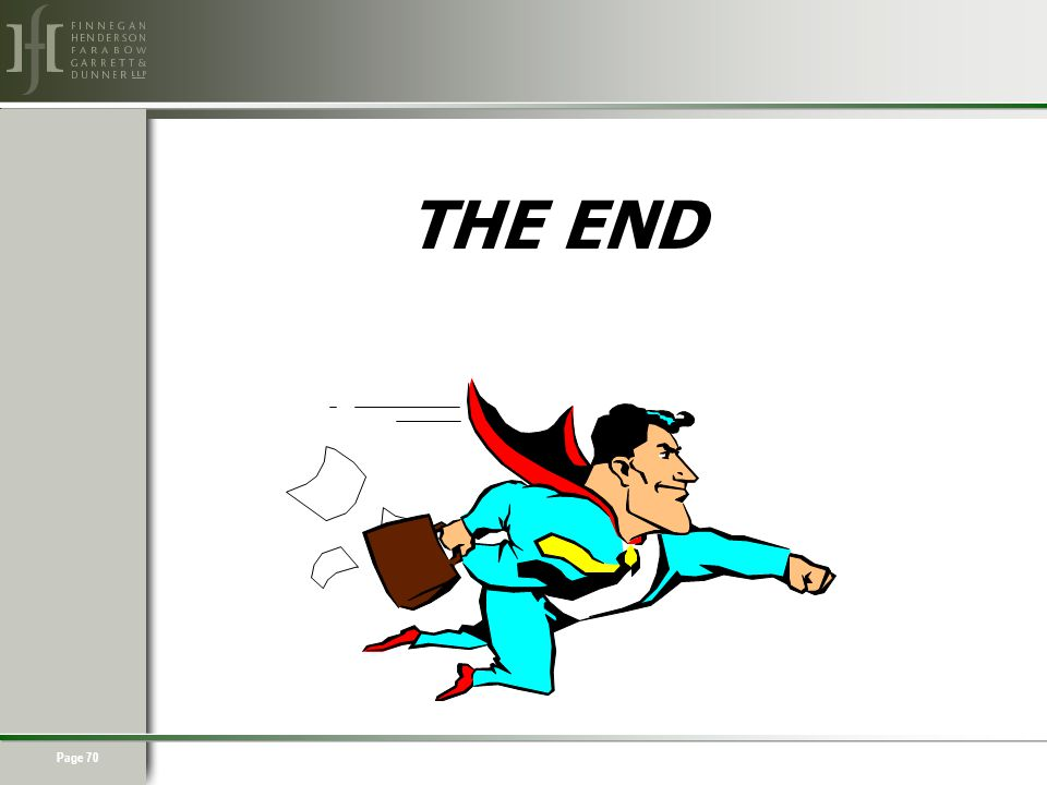 Page 70 THE END