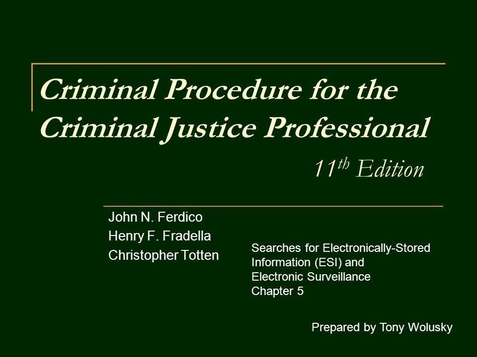 Electronically Stored Information (ESI) To insure compliance with the Fourth Amendment s particularity requirement, officers should specify the following in their applications for search warrants of ESI: the crimes for which evidence is being sought; the reasons why there is probable cause to believe the computer will contain such evidence; the dates and/or time frames that are relevant to the investigation; and a relevant search strategy in practical, non-technical terms to ensure that the search does not become a general rummaging expedition as opposed to one with particularly-defined parameters.