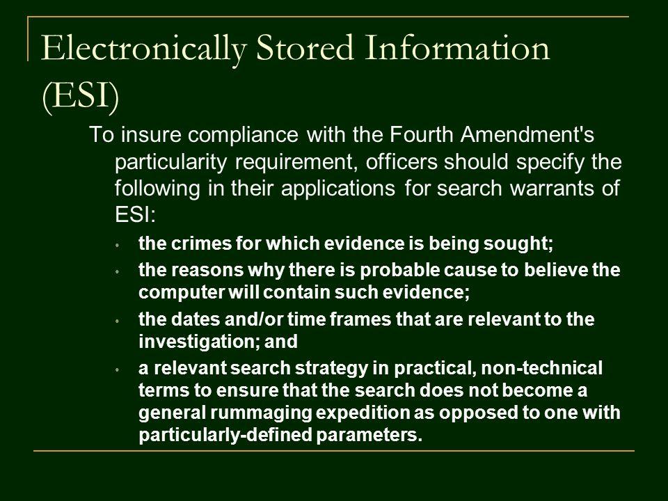 Electronic Surveillance Warrants