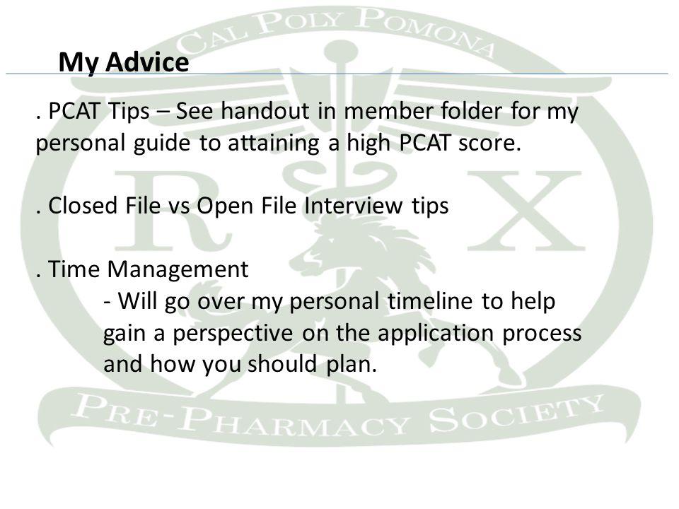 My Advice.