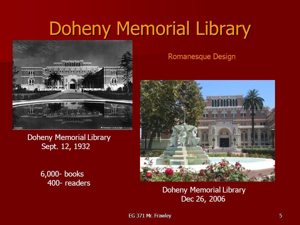 EG 371 Mr. Frawley5 Doheny Memorial Library Sept.