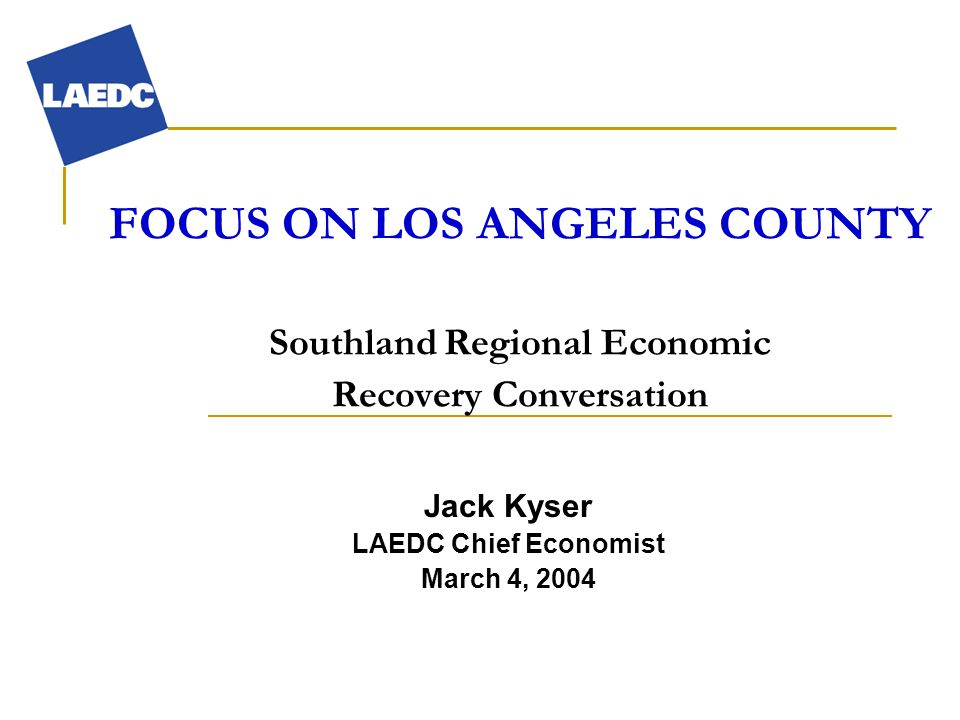 Location of Logistics Firms in L.A. County