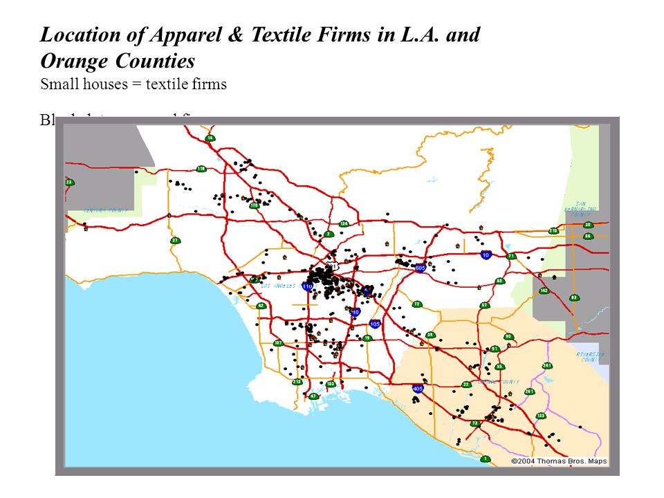 Location of Apparel & Textile Firms in L.A.