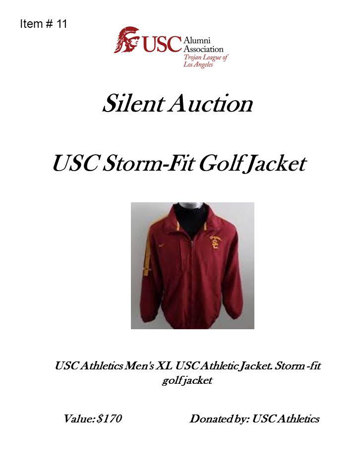 Silent Auction USC Storm-Fit Golf Jacket USC Athletics Men s XL USC Athletic Jacket.