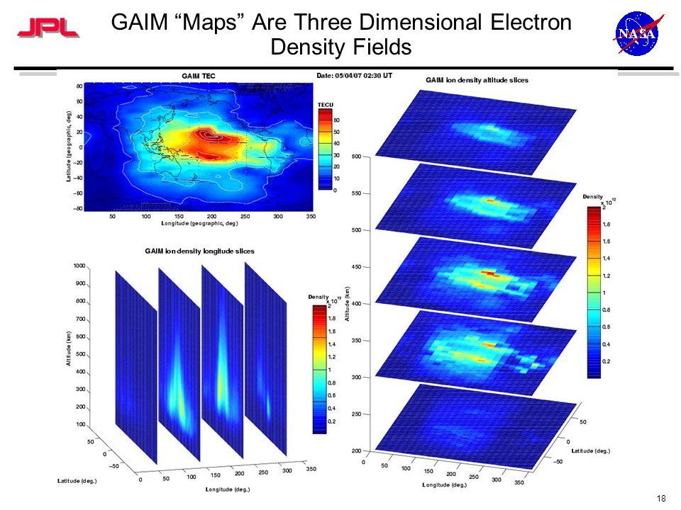 18 GAIM Maps Are Three Dimensional Electron Density Fields
