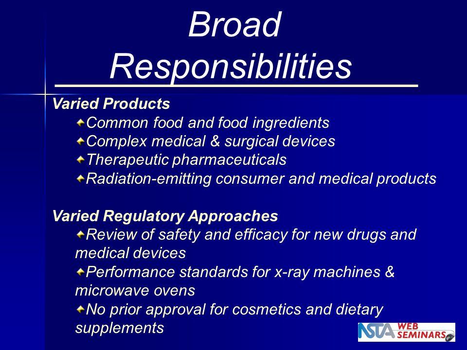 Broad Responsibilities